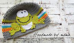 Puppy crochet hat.Crochet boy hat.Crochet spring hat by HbyM https://www.facebook.com/HandmadebyMama?ref=hl