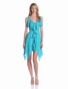 Amazon.com: maxandcleo Women's Ruffle Front Dress: Clothing