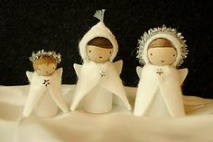 wooden angels - so cute