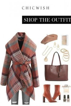 Free Shipping & Easy Return. Up to 30% Off. Plaid Pattern Rabato Coat in Coral. #womenfashion #clothing #coat #coats #rabatocoat #warm #chic #datingoutfit #falloutfit #winteroufit #wrapcoat Tomboy Outfits, Casual Outfits, Fashion Outfits, Wrap Coat, Date Outfits, Plaid Pattern, Professional Outfits, Plaid Scarf, Autumn Fashion