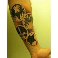 Bildresultat för kiss band tattoo Kiss Tattoos, New Tattoos, Band Tattoo, I Tattoo, Kiss Band, Hot Band, Venus, Tattoo Ideas, Tattoo