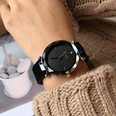 Luxury Crystal Watch for Women, Dress Fashion Rose Gold Quartz Wrist Watches Crystal Dress, Watches For Men, Wrist Watches, Quartz Watch, Fashion Watches, Black Silver, Fashion Dresses, Rose Gold, Crystals
