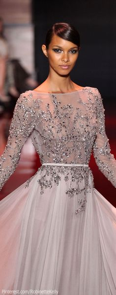 Elie Saab Haute Couture | F/W 2013 would love this is an ivory colour as a wedding dress!!