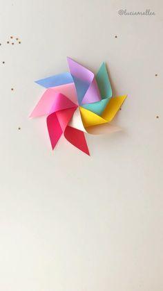 Paper Crafts Origami, Easy Paper Crafts, Diy Paper, Geometric Origami, Origami Love, Origami Garland, Diy Garland, Preschool Decor, Cute Food Drawings