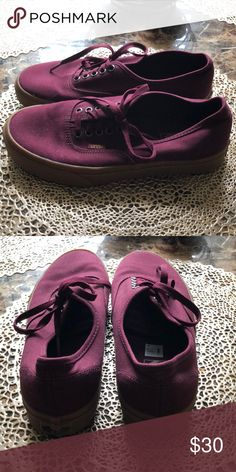 e726330242 Brand new burgundy vans (never worn) Super cute and comfy vans for sale.