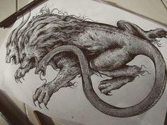Sang penjahat #artworks #chimera #pen #penandink #hatching Symbol Tattoos, Love Tattoos, Tattoos For Guys, Tatoos, Lion Tattoo, S Tattoo, Chimera Mythology, Lion Art, Tattoo Designs