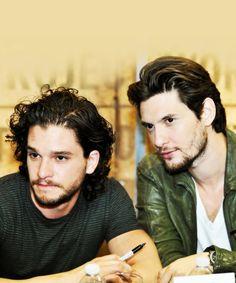 Kit Harrington and Ben Barnes aka Jon Snow and Prince Caspian. When Narnia meet's Westeros?