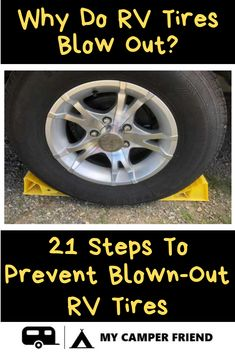 Why Do RV Tires Blow Out? Find out here why RV tires blow out, trailer tire blowout causes, what you can do to prevent travel trailer tire blowout damage and what RV tire blowout protection there is. Rv Camping Tips, Camping Essentials, Camping Outdoors, Outdoor Camping, Camping Ideas, Camping Signs, Camping Products, Camping Stuff, Travel Trailer Tires