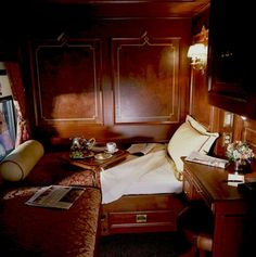 Royal Canadian Pacific Train Sleeping Compartment. An elegant train deeply rooted in history, with many cars built between the years of 1917 and 1931. Fellow travelers over the years have included: Winston Churchill, King George VI & Queen Elizabeth, Princess Elizabeth & the Duke of Edinburgh (later Queen Elizabeth & Prince Philip), as well as John & Jacqueline Kennedy.