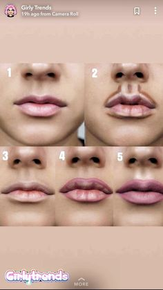 Pin by France Bougie on Maquillage in 2019 - Kama D. Moreau - - Pin by France Bougie on Maquillage in 2019 -Pin by Cecilia Dominguez on Faces & More in lip contour on both the top and bottom of the lip allows for a more exaggerated lip look Makeup ha Makeup 101, Makeup Guide, Makeup Tricks, Makeup Goals, Beauty Makeup, Makeup Ideas, Makeup Inspo, Makeup Products, Glam Makeup