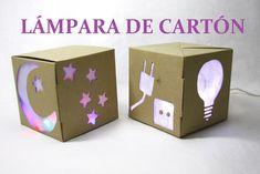 Lampara hecha con caja de cartón