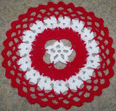 Star Centered Christmas Doily Free Crochet Pattern Courtesy of Crochet N More