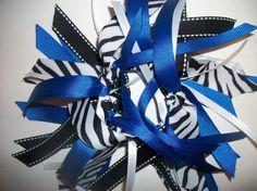 Gymnastics / Cheer Style  Ribbon Ponytail Holder by LaDeeDots