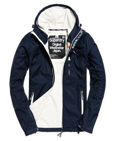 eclipse navy / ecru Superdry Hooded Windtrekker Jacket -size L