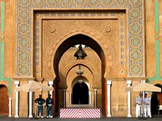 Royal palace in Rabat in Morocco. Morocco Beach, Visit Morocco, Cultural Architecture, Islamic Architecture, Grand Chef, Western Sahara, Mystique, Royal Palace, Africa Travel