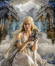 Game Of Thrones Drawings, Arte Game Of Thrones, Game Of Thrones Artwork, Game Of Thrones Poster, Game Of Thrones Funny, Game Of Thrones Characters, Queen Of Dragons, Mother Of Dragons, Game Of Throne Daenerys