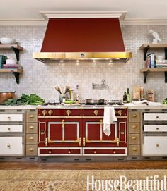 House Beautiful / Designers Carey Maloney and Hermes Mallea. Love that range and the cabinetry.