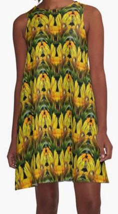 Abstract Yellow Daisy flowers nature art design by Susan.  Available on several products.