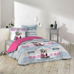 Parure De Couette 100% Coton 240x220 Girly Cat DOUCEUR D'INTERIEUR : prix, avis…