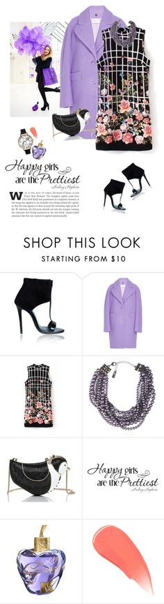 """""""Bird in a flower garden"""" by lera-chyzh ❤ liked on Polyvore featuring Carven, Lia Sophia, Kate Spade, Lolita Lempicka, Burberry, Olivia Burton, flower, dress, carven and coat"""