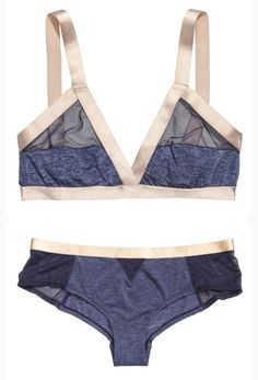Midnight blue lingerie