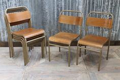 Stackable dining chairs from our huge range of vintage and industrial seating. These chairs are ideal for bars, restaurants, cafes or domestic properties.