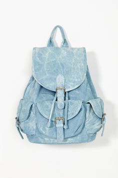 Nasty gal Denim Daze Backpack in Blue (denim) | Lyst