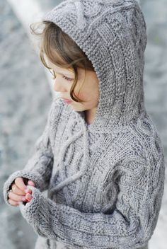 aran cable sweater for child