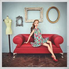 Untitled | Sandraⓒ's photos on Flickr | Poppy Parker | floral summer dress