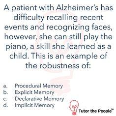 Memory QOTD #MCATQOTD #MCATQOTDTTP #MCAT#MCAT2015 #science #greysanatomy#scrubs #medschoollife #premedprobs#premedical #premedlife #surgeon#medschoolprobs #futuresurgeon#premedstudent #medstudent #doctor#futuredoctor #medicalschool #diagnosis#medicine #premed #medical #medschool#healthcare  #memory #alzheimersdisease #askMCAT