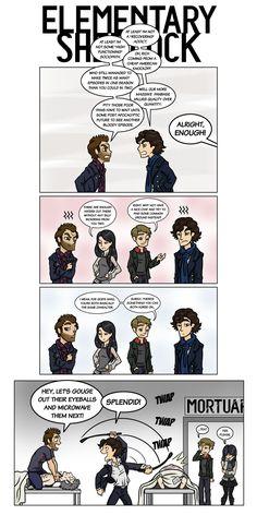 'Sherlock Holmes' out of Elementary isn't Sherlock Holmes in my opinion.