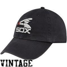 357a28ac0b9 MLB  47 Brand Chicago White Sox Charcoal Cooperstown Vintage Franchise  Fitted Hat (Medium)