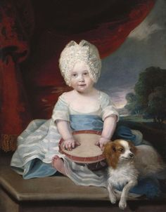 Princess Amelia of the United Kingdom August 1783 – 2 November was the fifteenth child and sixth daughter of King George III of the United Kingdom and his wife, Charlotte of Mecklenburg-Strelitz Rey George, King George, King Charles Spaniel, Cavalier King Charles, Old Paintings, Beautiful Paintings, Royal Collection Trust, Royal Babies, Amelie