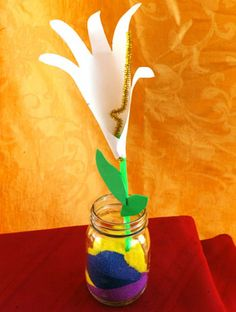 Handprint Easter Lily
