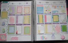 Printable Easter Stickers for Erin Condren Life Planner, Plum Paper Planner, checklist, Easter planner stickers, happy easter, pastel colors