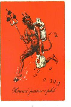 Krampus Valentine postcard