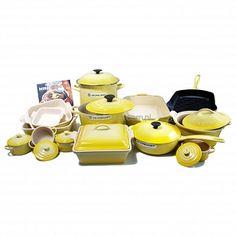 Le Creuset Cookware set Yellow 24-częściowy zestaw garnków Le Creuset SOLEIL YELLOW