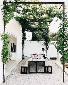"just-good-design: ""Masseria Moroseta Photo: la sultana.s "" just-good-design: ""Masseria Moroseta Photo: la sultana.s "" The post just-good-design: ""Masseria Moroseta Photo: la sultana. Outdoor Rooms, Outdoor Gardens, Outdoor Living, Outdoor Decor, Outdoor Seating, Outdoor Kitchens, Outdoor Ideas, Shed Landscaping, Gazebos"