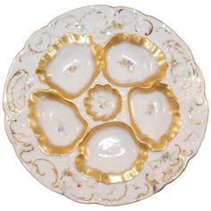 1stdibs | Antique Oyster Plate Limoges 1880