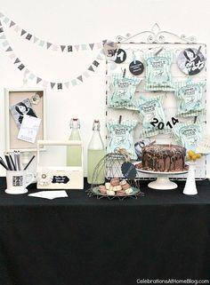 details for a graduation party dessert table