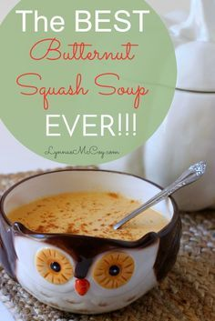 This butternut squash soup recipe is seriously the best I've ever tasted! It's rich and creamy - perfect for a fall evening! It's easily adapted for the slow cooker, too!