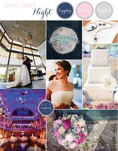 Starry Night – Sapphire and Blush Astronomy Wedding Inspiration