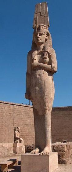 Statue of Meryetamun, daughter and royal wife of Ramesses II, at Akhmim near Sohag, Middle Egypt.