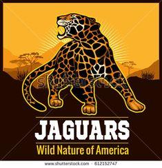 Vector Jaguar leopard Logo emblem symbol Graphics Vector Jaguar leopard Logo emblem symbol on black background by Digital-Clipart Monster Illustration, Hand Illustration, Illustrations, Jaguar Leopard, Black Tigers, Retro Logos, Label Templates, Background For Photography, Art Sketches