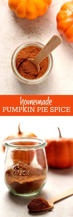 Homemade Pumpkin Pie Spice - make your own spice mix in minutes! A must have for fall baking!