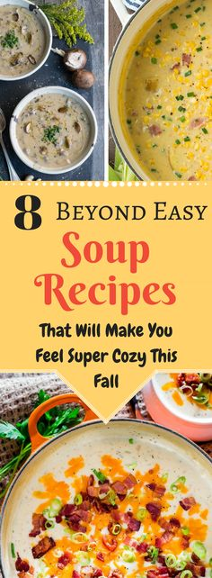 Amazing and absolutely delicious soup recipes everyone has to try this fall! It will warm up your heart and body!