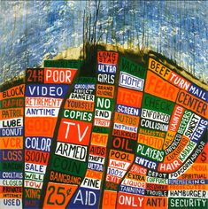 """The 'Hail To The Thief' album sleeve was designed by long-time Radiohead designer Stanley Downwood and 'Dr Tchock' (aka Thom Yorke).  It's supposed to represent Los Angeles, where much of the album was recorded. Other """"maps"""" in the album artwork refer to the street plans of London, Grozny, and Baghdad."""