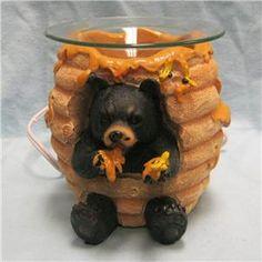 Bear in Honey Pot Aroma Electric Oil Warmer Figurine Electric Oil Warmer, Bear Decor, Candle Holders, Honey, Candles, Porta Velas, Chandelier, Pillar Candles, Lights