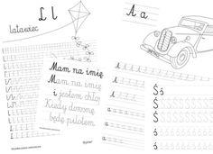 Przedstawiam karty do nauki pisania dla młodszych dzieci. Duża czcionka sprawia, że litery mogą równie dobrze służyć jako szlaczki dla dzieci do ćwiczeń grafomotorycznych. Pozostałe karty pracy usp…
