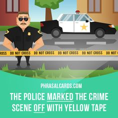"""""""Mark off"""" means """"to separate an area by putting something around it"""".  Example: The police marked the crime scene off with yellow tape.  #phrasalverb #phrasalverbs #phrasal #verb #verbs #phrase #phrases #expression #expressions #english #englishlanguage #learnenglish #studyenglish #language #vocabulary #dictionary #grammar #efl #esl #tesl #tefl #toefl #ielts #toeic #englishlearning #vocab #wordoftheday #phraseoftheday"""